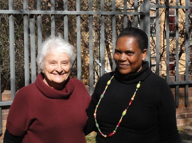 Josie and her successor, Bafikile, coordinator of eKhaya
